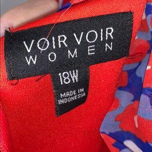 Voir Voir Dresses - Voir Voir Women plus size patterned dress SZ 18W